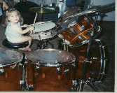 Young Student on my Ludwig amber vistalite set